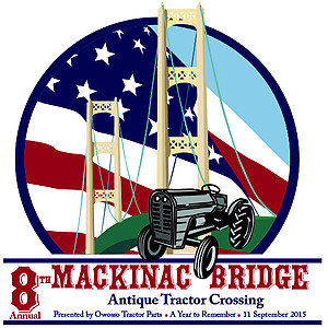 Mackinac Bridge Antique Tractor Crossing 2015