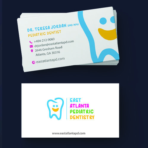 East Atlanta Pediatric Dentistry Business Cards