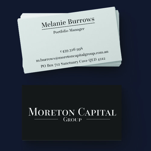 Moreton Capital Group Business Cards