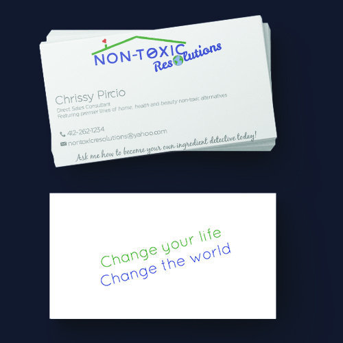 Non-Toxic Resolutions Business Cards