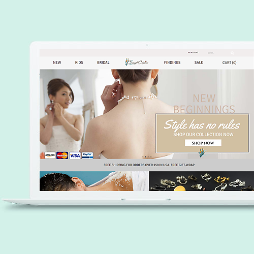 CUSTOMIZED WEB STORE DESIGN